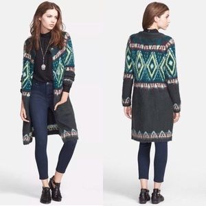 Free People Frosted Fair Isle Knit Cardigan